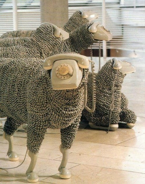Mobile Phone Sheep
