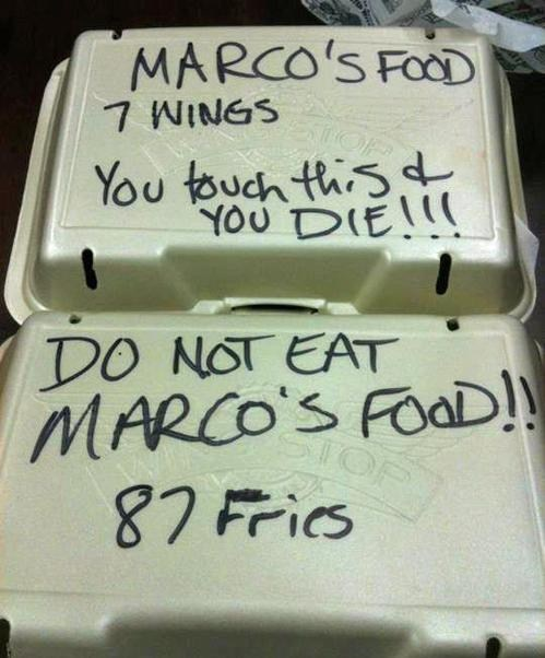 marco wings do not eat food