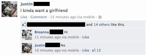 bad idea nope girlfriend facebook - 7119015168