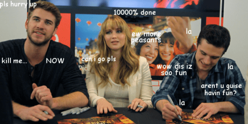 jennifer lawrence,liam hemsworth,hunger games,josh hutcherson