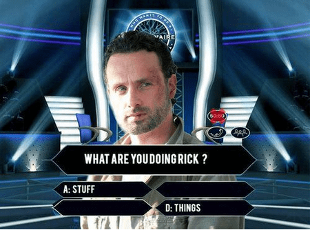 who wants to be a millionaire,Andrew Lincoln,The Walking Dead
