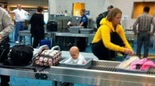 Babies,security,airports