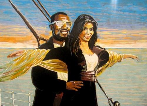 titanic,art,kim kardashian,kanye west
