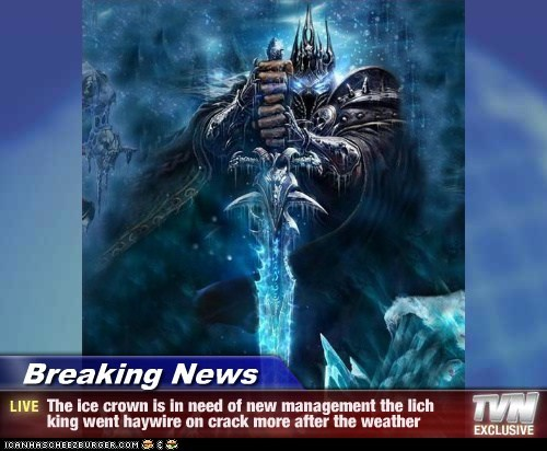 Breaking News The Ice Crown Is In Need Of New Management The Lich