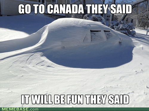 Canada snow winter They Said