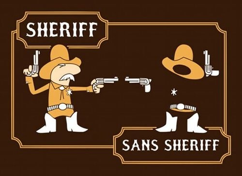 similar sounding sheriff Compare And Contrast sans serif - 7119274752
