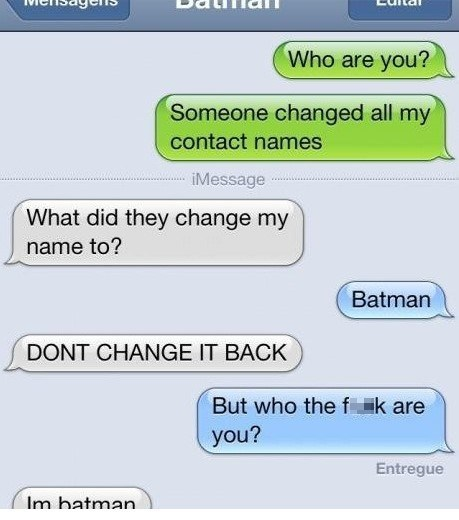 text phone batman sms - 7119418368