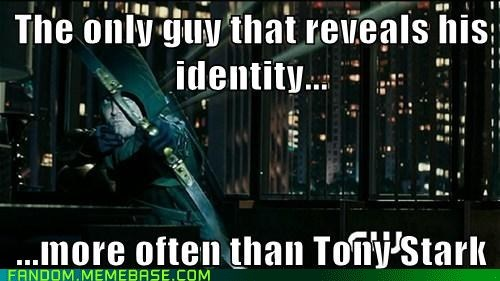 secret identity,green arrow,iron man