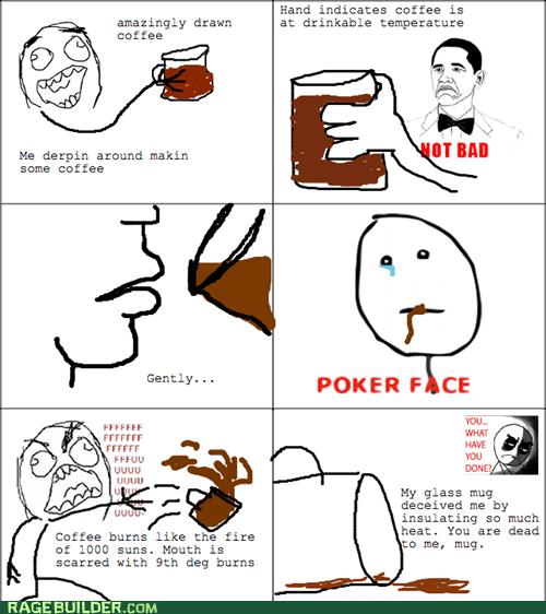 deception poker face not bad hot coffee mug - 7119759360
