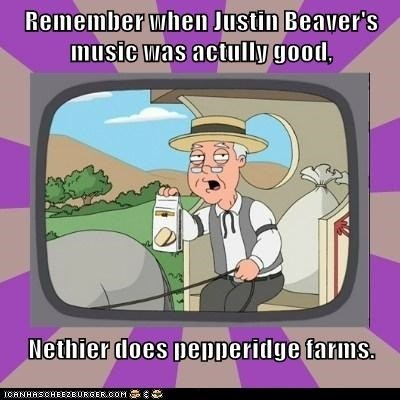 family guy,pepperidge farm remembers,justin bieber