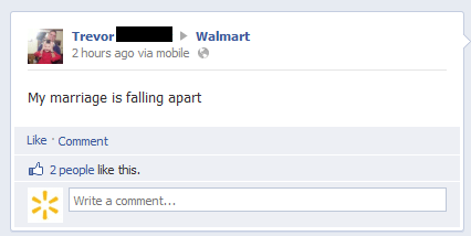 marriage,TMI,divorce,Walmart