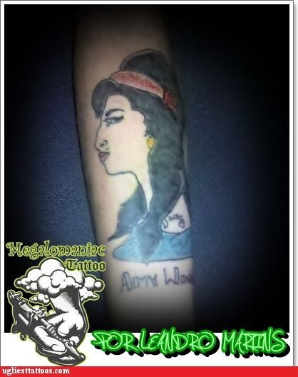 arm tattoos singers amy winehouse