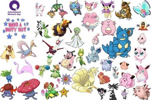 females Pokémon international women's day - 7121441536