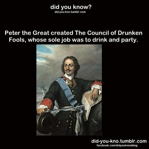 history,drunken fools,peter the great