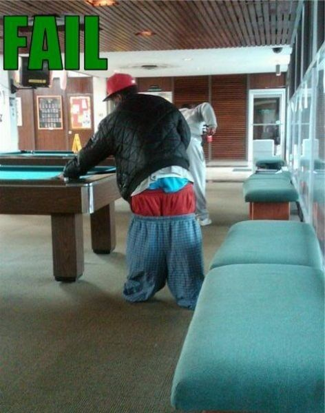 pool tables,saggy pants,gangstas