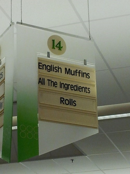rolls,english muffins,ingredients,grocery store