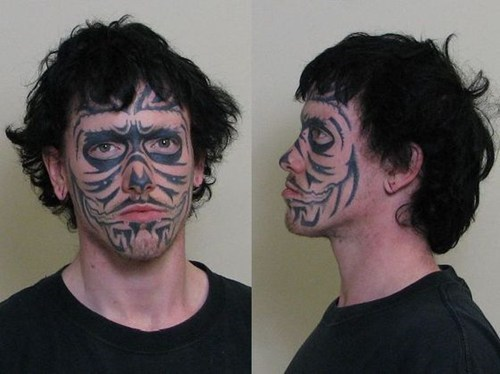 face tattoos,mugshots