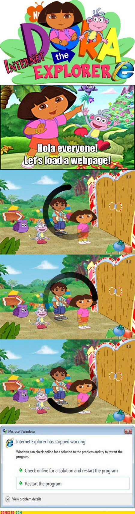 TV dora the explorer internet explorer - 7121870336