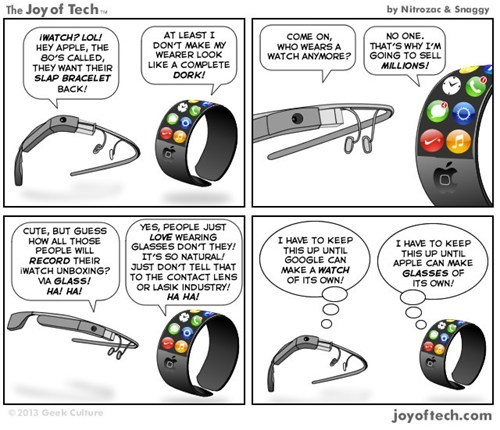 give it time,comics,watch,glass,apple,joy of tech,google