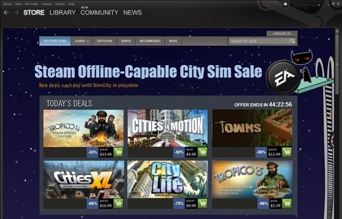 steam,SimCity,EA,video games
