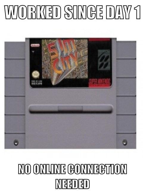 SimCity retro Super Nintendo EA - 7122084864