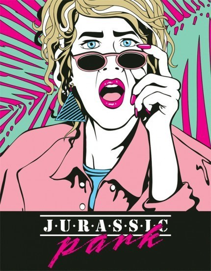 poster,Fan Art,80s,jurassic park