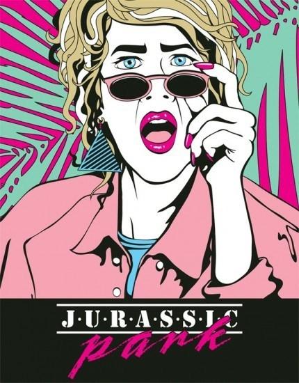 poster Fan Art 80s jurassic park - 7122100992