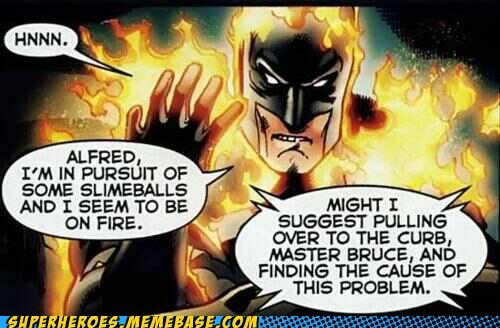 on fire wtf off the page alfred batman - 7122130944