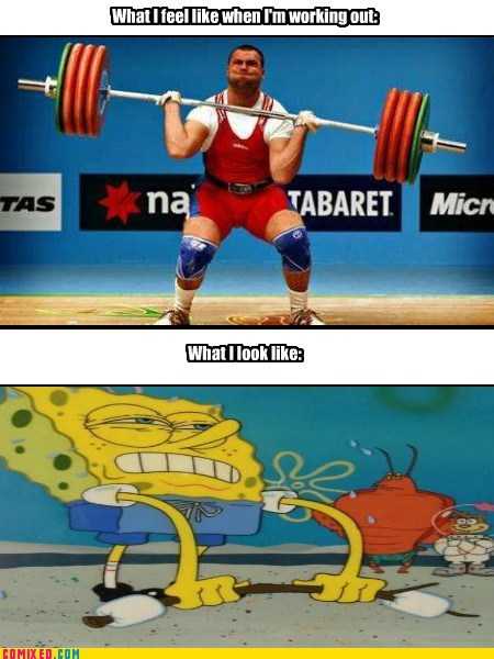 do you even lift SpongeBob SquarePants working out - 7122136832
