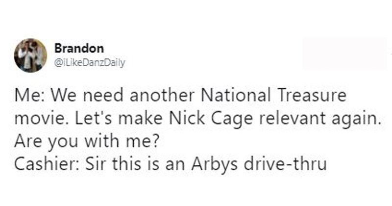 Tweets that all end, SIR, THIS IS ARBY'S