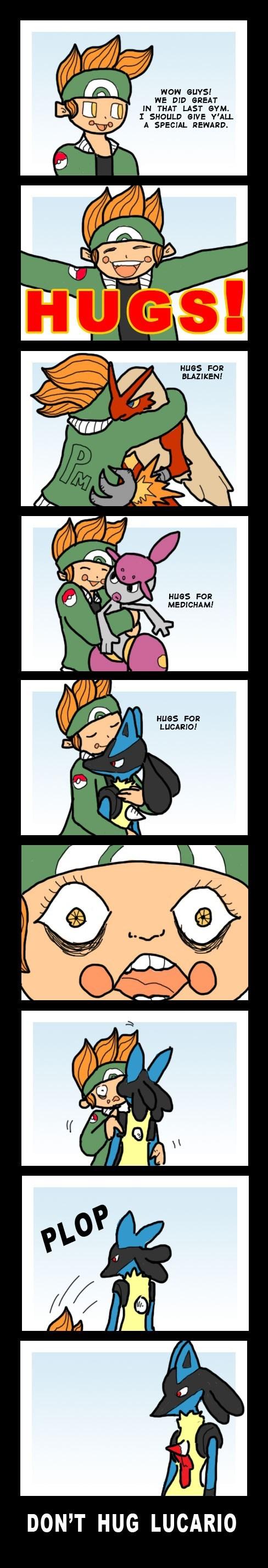 Pokémon lucario comics hugs - 7122247424