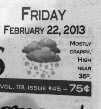 weather weather report newspaper - 7122271232