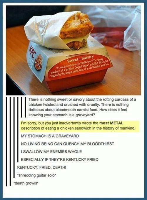 metal Music accident vegetarian g rated win
