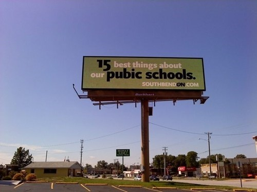 billboard,irony,spelling