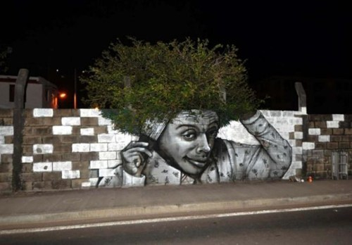 Street Art afro graffiti hacked irl - 7122278144