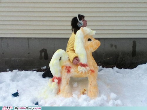 applejack,snow,IRL