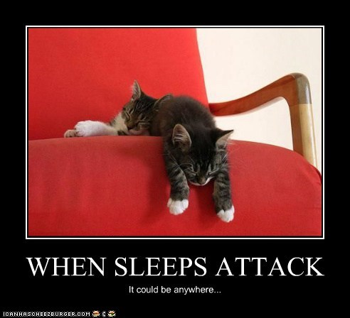 WHEN SLEEPS ATTACK It could be anywhere...