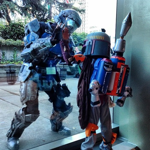 odst,crossover,cosplay,star wars,halo,video games,boba fett