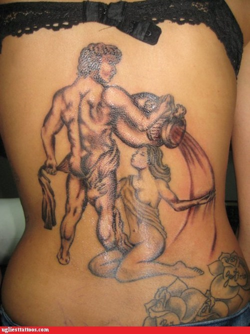 back tattoos,classical,greek gods
