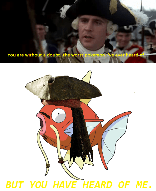 Pokémon,magikarp,pirates of the carribean
