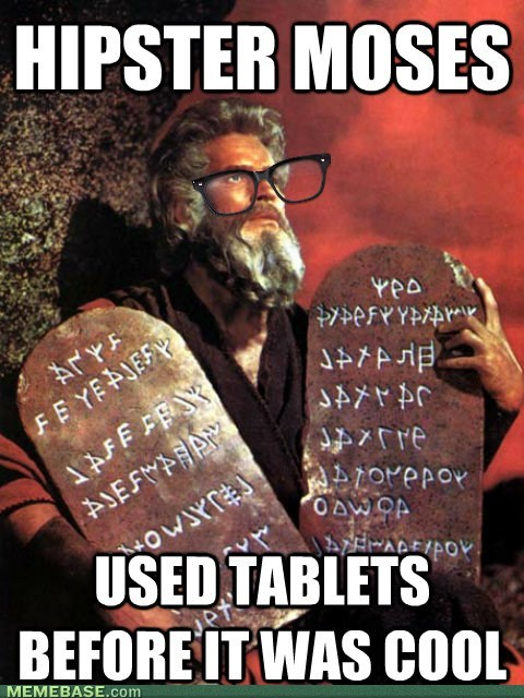religion,tablets,moses,hipster,apple