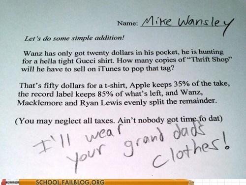 thrift shop word problem math g rated School of FAIL - 7125846272