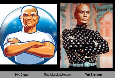 yul brynner,TLL,mr clean