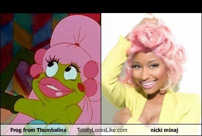 Frog from Thumbalina Totally Looks Like nicki minaj
