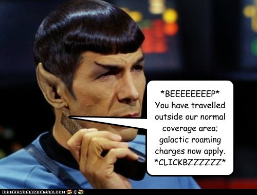 Spock roaming cell phone Leonard Nimoy communicator - 7126354432