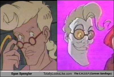 egon spengler carmen sandiego the-c-h-i-e-f TLL Ghostbusters