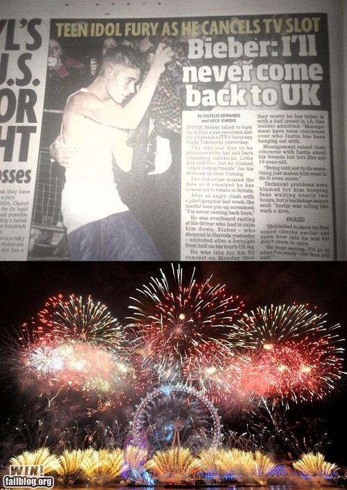 fireworks UK justin bieber Music FAILS g rated
