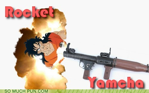 shoop yamcha rocket similar sounding dragonball z rocket launcher
