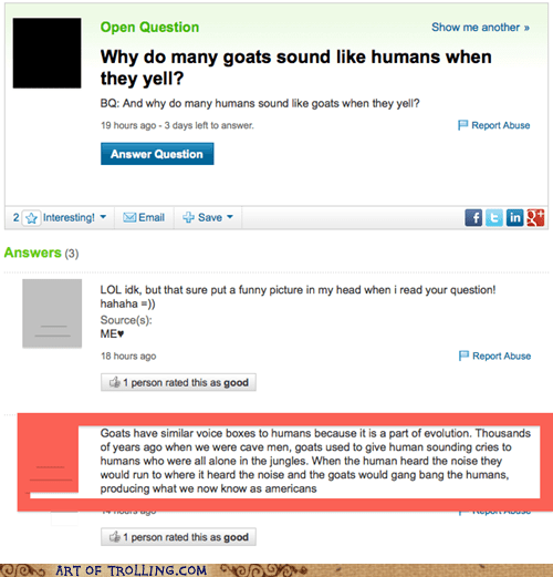 evolution yahoo answers goats - 7127762688