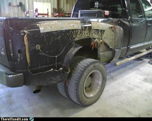 car accident pickup truck fender - 7127856128